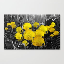 Urban Animals Tangs Canvas Print