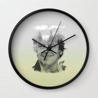 jack nicholson Wall Clocks featuring Wildors Series. 002 Jack by Alexandru