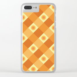 SUNFLOWER CHECK Clear iPhone Case