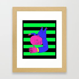 The Green Stairs Framed Art Print