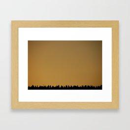 Sunset in Paris Framed Art Print