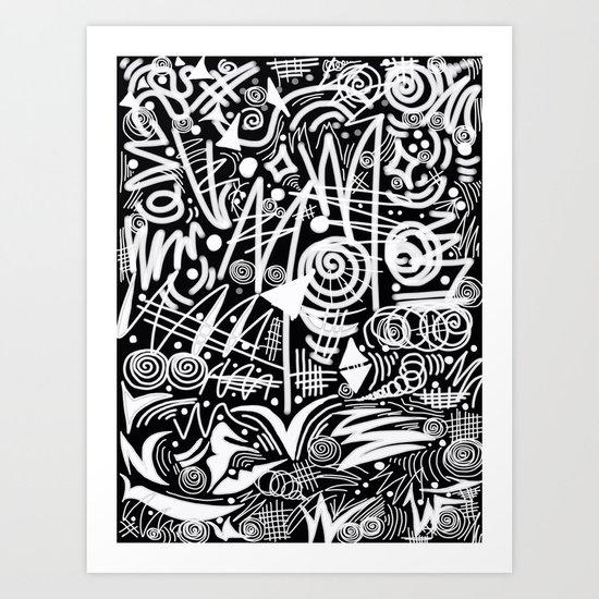 Chalk Board! Art Print