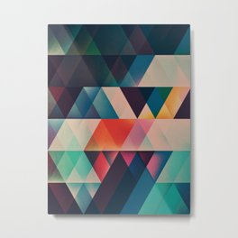 Geometric Abstract: jyst ynyff Metal Print