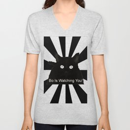 Bo Is Watching You! Unisex V-Neck