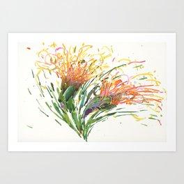 Flower Symphony-Cactus Bloom Art Print