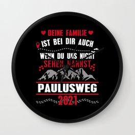 Geschenk zum Wandern auf dem Paulusweg Wall Clock
