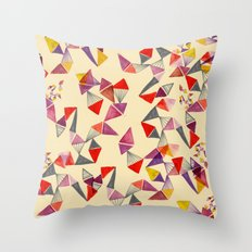 watercolour geometric shapes Throw Pillow