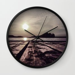Sunsets on the Lakeshore Wall Clock