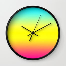 Ombre Magical Rainbow Unicorn Colors Wall Clock