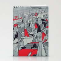 porsche Stationery Cards featuring Porsche Racing by Ale Giorgini
