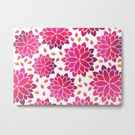 Lotus Flowers Layout Metal Print