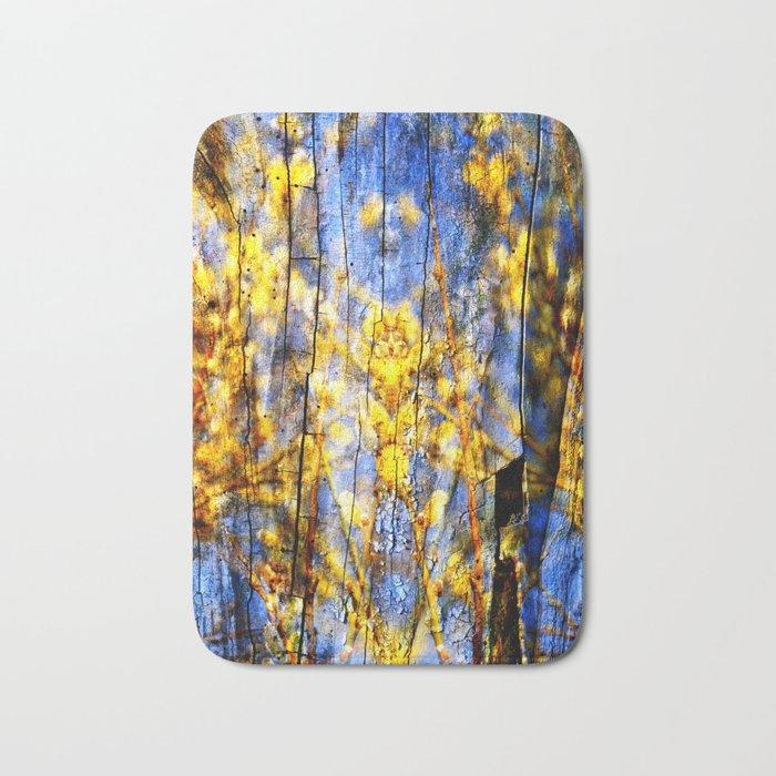 BLUE SYMPHONY of SPRING Bath Mat