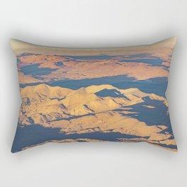 Andes Mountains Desert Aerial Landscape Scene Rectangular Pillow