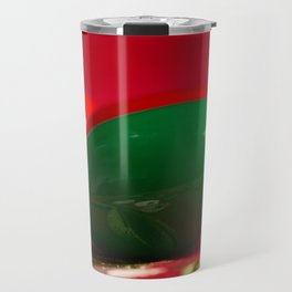 Green and Red Christmas Light Bulbs Travel Mug