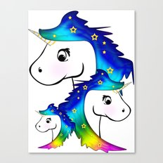 Unicorn Family Canvas Print