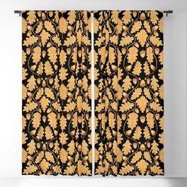 Golden oak and acorn nouveau Blackout Curtain