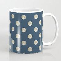 polka dot Mugs featuring Full Moon Polka Dot by Paula Belle Flores