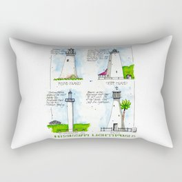 Mississippi Lighthouses Rectangular Pillow
