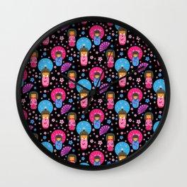 Japanese Dolls - Kokeshi pattern Wall Clock