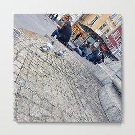 Pigeons in Maribor Metal Print