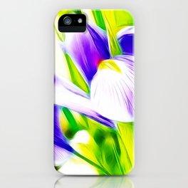 Fractalius iris iPhone Case