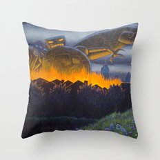 Evil Robot Throw Pillow