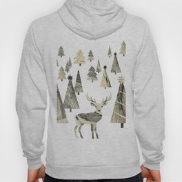 Winter Woods, collage Hoody