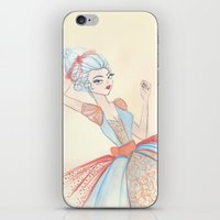 marie antoinette iPhone & iPod Skins featuring Marie Antoinette by carotoki art and love
