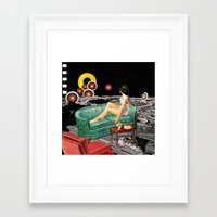 northern lights Framed Art Prints featuring Northern Lights by Eugenia Loli