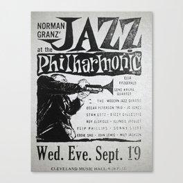 Vintage Jazz Poster, 1955 Canvas Print