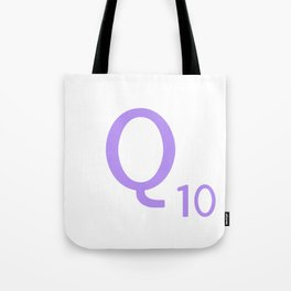 Monogram Letter Q Purple Scrabble Tote Bag