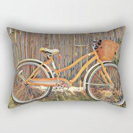 Nostalgic Bike with Basket Rectangular Pillow