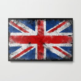 United Kingdom flag Grunge Metal Print