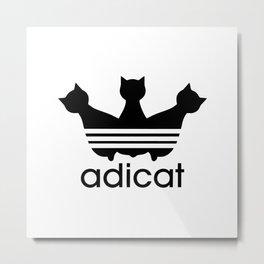 Adicat Metal Print