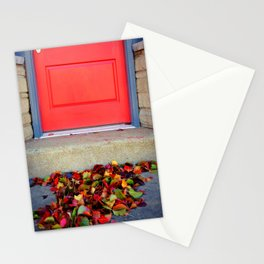 Leaves and Door Stationery Cards