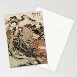 Hokusai, Aspara and the flute – musician manga, japan,hokusai,japanese,北斎,ミュージシャン Stationery Cards
