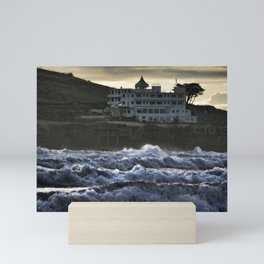 Stormy Burgh Island Hotel Mini Art Print