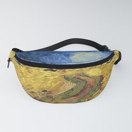 Wheatfield with Crows by Vincent van Gogh Fanny Pack