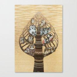 Owl Hotel Canvas Print