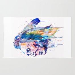 Sioux Warrior Watercolor Rug