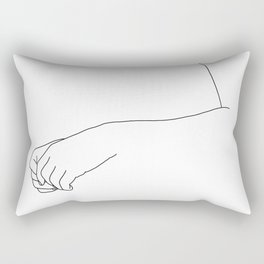 Hands line drawing illustration - Fifi Rectangular Pillow