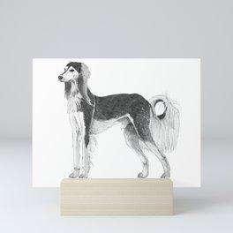 Saluki Mini Art Print