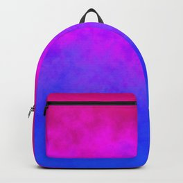 Gradient blue pink cloudy background Backpack