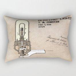 Edison electric light patent Rectangular Pillow