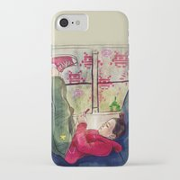 video games iPhone & iPod Cases featuring Girls & Video Games by Danielle Feigenbaum