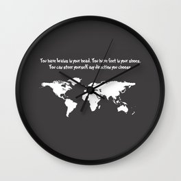 You have brains in your head... Dr. Seuss Wall Clock
