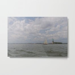 Liberty & Sails Metal Print
