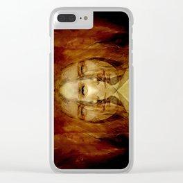 Hemispheres Clear iPhone Case