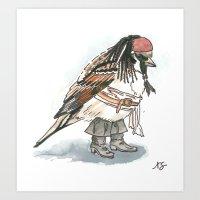 jack sparrow Art Prints featuring Captain Jack Sparrow by victorygarlic - Niki