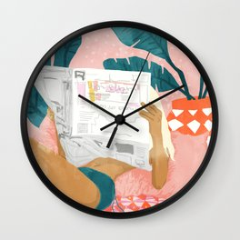 Morning News Wall Clock